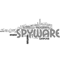 Adware and spyware such a pain text word cloud vector