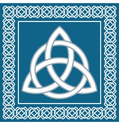 Ancient symbol triskel traditional celtic design vector image