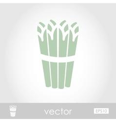 Asparagus icon vector