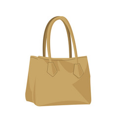 Beige fashion female woman purse handbag isolated vector