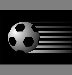 black soccer ball symbol vector image