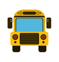 Bus school transport vector