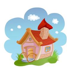Cartoon house vector image vector image