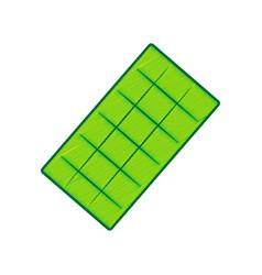 chocolate sign lemon scribble icon on vector image