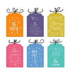 Christmas card collection vector