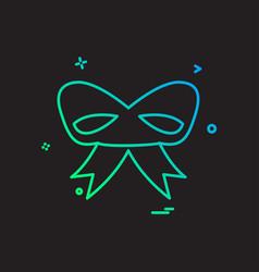 christmas ribbon icon design vector image