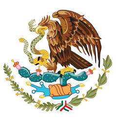 coat of arms mexico vector image