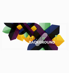 color lines modern geometric abstract background vector image