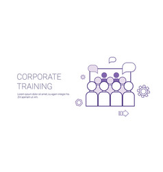Corporate training business coaching concept vector