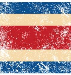 Costa Rica retro flag vector
