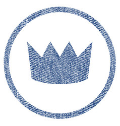 crown rounded fabric textured icon vector image