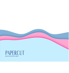 Cut soft baby colors papercut background vector