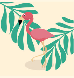 cute flamingo tropical vector image