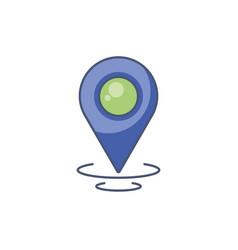 Digital gps mark icon fill design vector