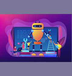 Engineering for kids concept vector