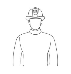 firefighterprofessions single icon in outline vector image