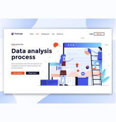 flat modern design website template - data vector image