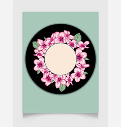 Floral wedding invitation elegant card template vector
