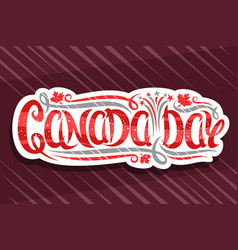 greeting card for canada day vector image