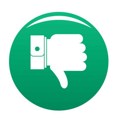 hand sediment icon green vector image