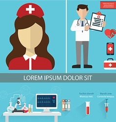 health care and medical flat banners set vector image