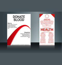Health care and medical poster brochure flyer vector
