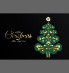 holiday christmas gretting card design vector image