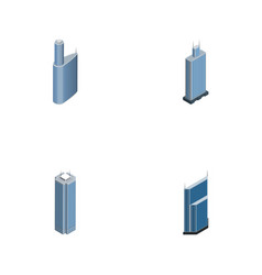 Isometric skyscraper set of skyscraper vector