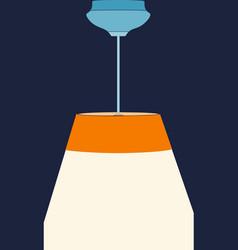 lamp flat design vector image