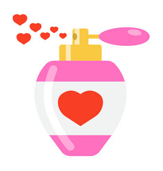love perfume with hearts flat icon valentines day vector image