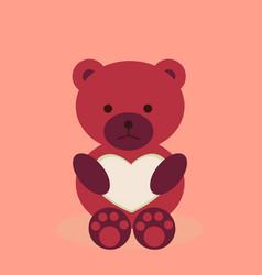 lovely teddy bear with heart vector image