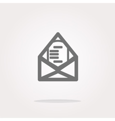 Mail envelope icon web button isolated on vector