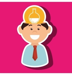 Man chemistry idea isolated icon design vector