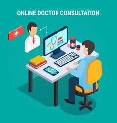 Medical consultation concept vector