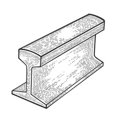 Metal rail part sketch vector