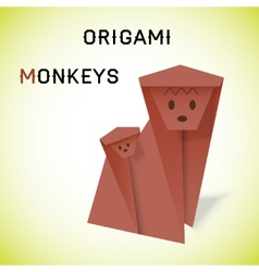 Monkeys origami vector image