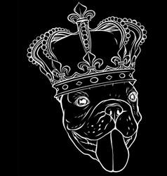 monochromatic dog king vector image