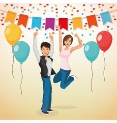 Party design Celebration icon Colorfull vector image