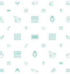 Pattern icons seamless white background vector