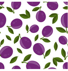 pattern with plums vector image