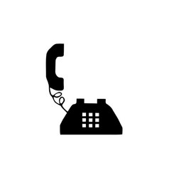 Phone old retro vintage icon stock black outline vector