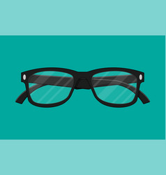 plastic framed glasses isolated on green vector image