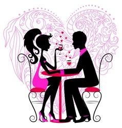 Romantic dinner vector