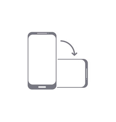 Rotate phone icon flip screen mobile phone vector