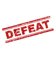 Scratched textured defeat stamp seal vector