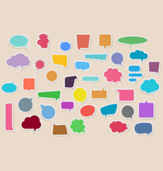 set blank empty colorful stickers of speech vector image