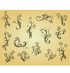 set of vintage decorations vector image