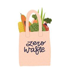 shopping reusable grocery cloth bag vector image