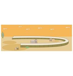 Simplistic Townscape vector image