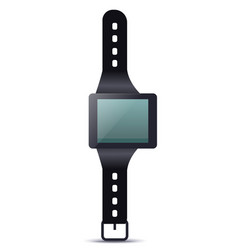 Smartwatch device with blank screen vector